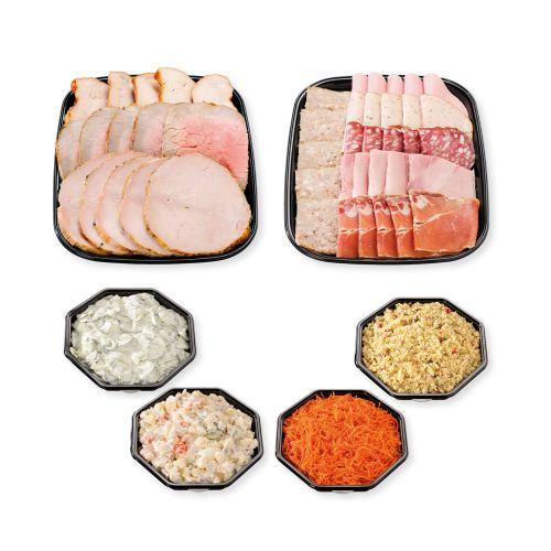 Plateau viande, charcuterie et salades pour 5 personnes